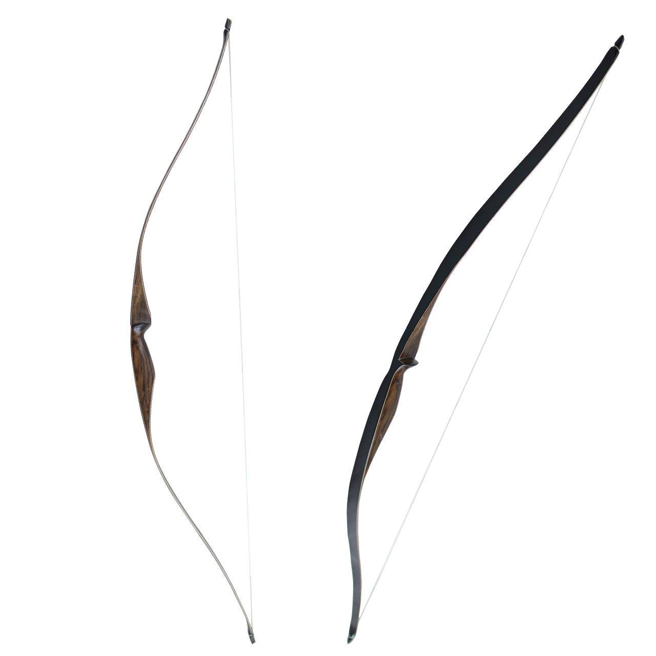 SinoArt Sparrow 54'' Traditional Long Bow 20 25 lbs Draw Weight One-Piece Longbow Recurve BowRight Hands Beginner Women Tenns (Right Hand 30 lbs)