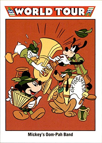 1991 Disney Series One #207 Mickey's Oom-Pah Band Mickey Mouse Goofy Pluto Donald Duck Munich Germany