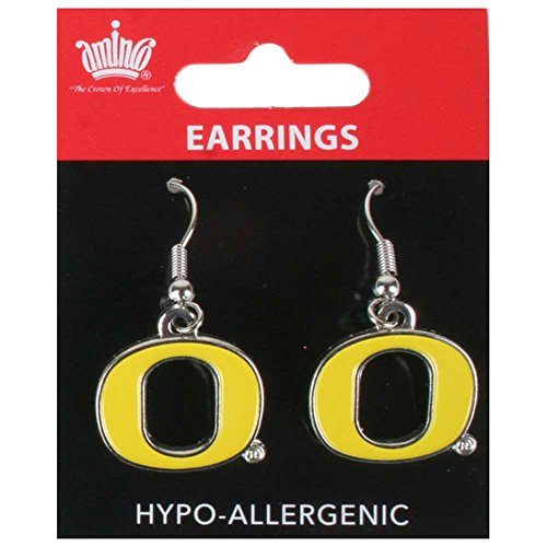NCAA Oregon Ducks Logo Dangler Earrings ()