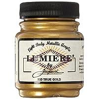 Jacquard Products 442392 Pintura de acrílico metálica Lumiere de 2,25 onzas de oro verdadero