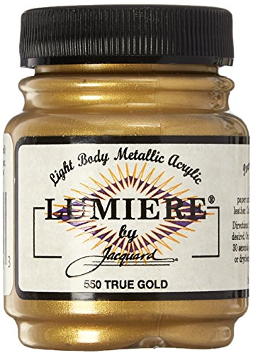 Jacquard Products 442392 Lumiere Metallic Acrylic Paint 2.25 Ounces-True Gold -