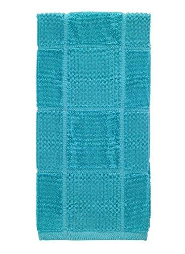 T-Fal Textiles 10967 Solid Color Parquet Design 100-Percent Cotton Kitchen Dish Towel, Breeze, Single