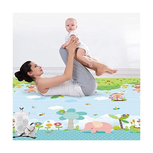 impermeable 200x180 cm Alfombra de juego infantil Juego Alfombra XXXL para Jugar al Suelo para Bebés Niños Pequeños