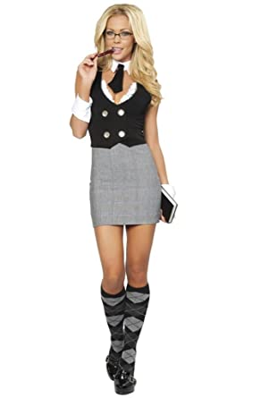 118d677d7fc Image Unavailable. Image not available for. Color  Sexy Naughty School Girl  Aid Halloween Costume