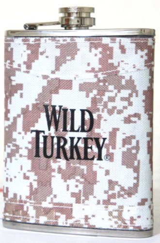 Wild Turkey Liquor - WILD TURKEY Stainless Steel Liquor Flask 8 Oz