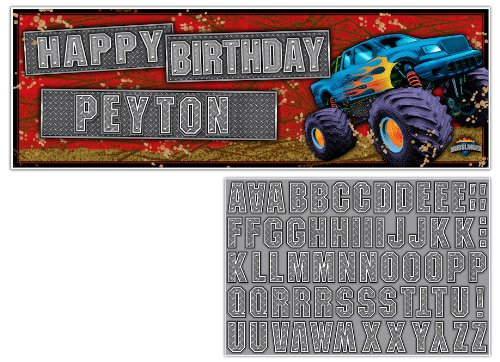 Giant Party Banner with Stickers, (Monster Party Invitation)