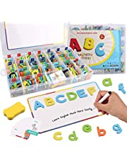 Classroom Magnetic Letters Satkago Alphabet Magnets Letters Kit for Kids Spelling Learning Educational Toy 208 ABC Uppercase Lowercase Letters Symbols Magnet Board Whiteboard Pen Eraser Learning Cards