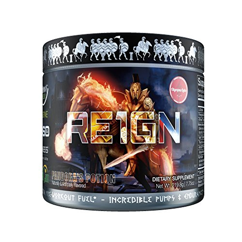 RE1GN All-in-One Pre Workout| Pre Workout Bodybuilding Supplement for Incredible Pump & Endurance, Intense Energy & Focus | 20 Servings | 40 Scoops (Pandoras Potion)