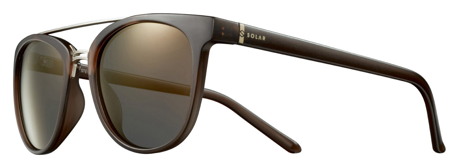 Solar Stewart Gafas de Sol Unisex, Marrón/translúcido ...