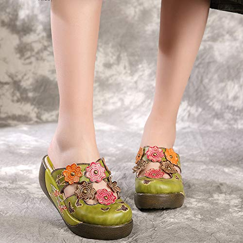 coloré Vert Vert 36 ZHRUI Chaussures EU Taille n8wx51wgTq