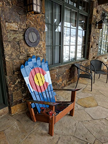 Colorado Flag Hand Painted Adirondack Ski Chair By Colorado Ski Chairs LLC