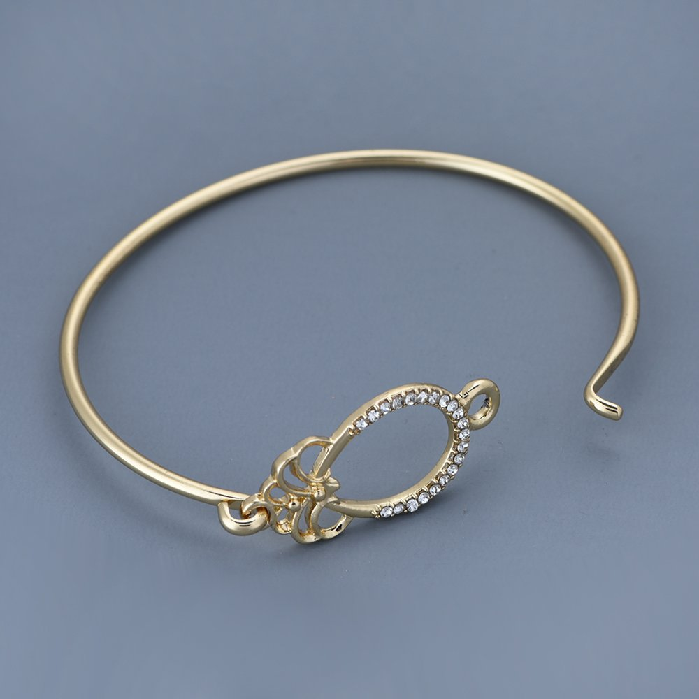 RUXIANG O and Spider Water Drop Pineapple Bangle Bracelet for Women
