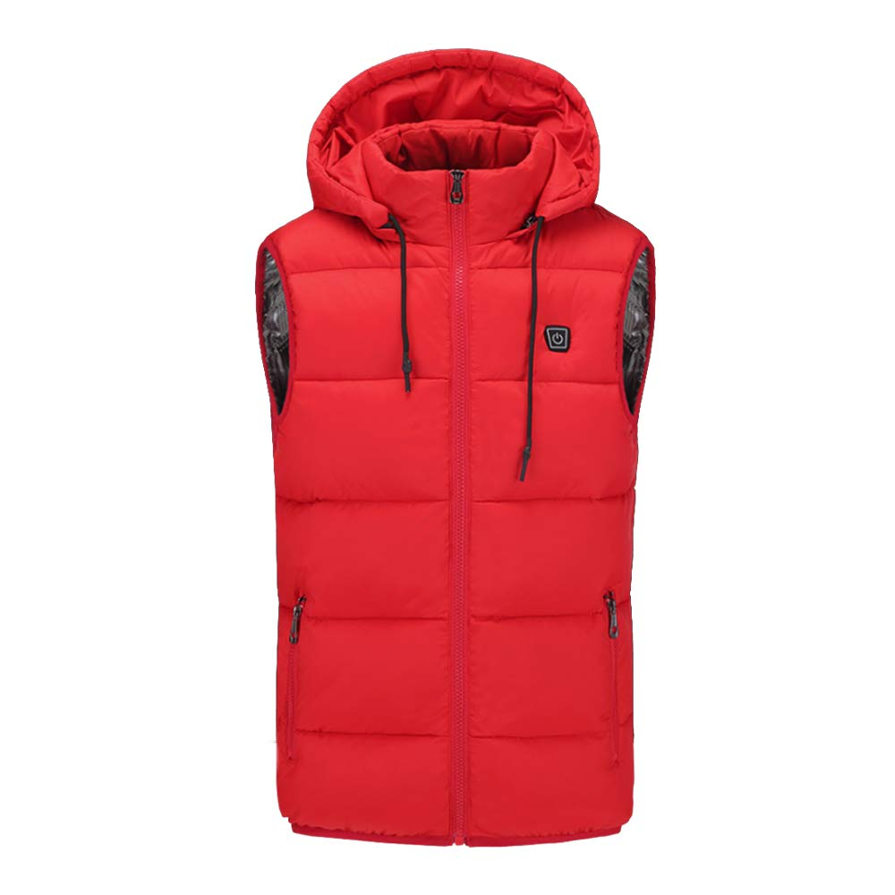 COCOPLAZA Insulated Heated Vest Unisex Slim Fit Heated Coat Waistcoat Rechargeable USB Electric Heating Winter Vest