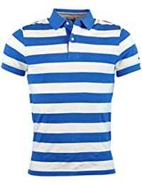 Tommy Hilfiger Mens Custom Fit Striped Polo Shirt