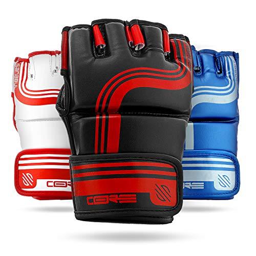 Sanabul Core Series 4 oz MMA Grappling Gloves (Black/Red, L/XL) (4oz Mma Gloves)