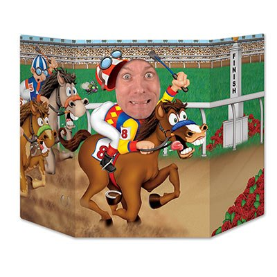 Beistle Horse Racing Photo Property, 3-Feet 10-Inch by