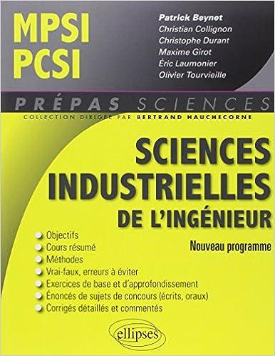 Livres Sciences Industrielles de l'Ingénieur MPSI PCSI Nouveau Programme pdf, epub ebook