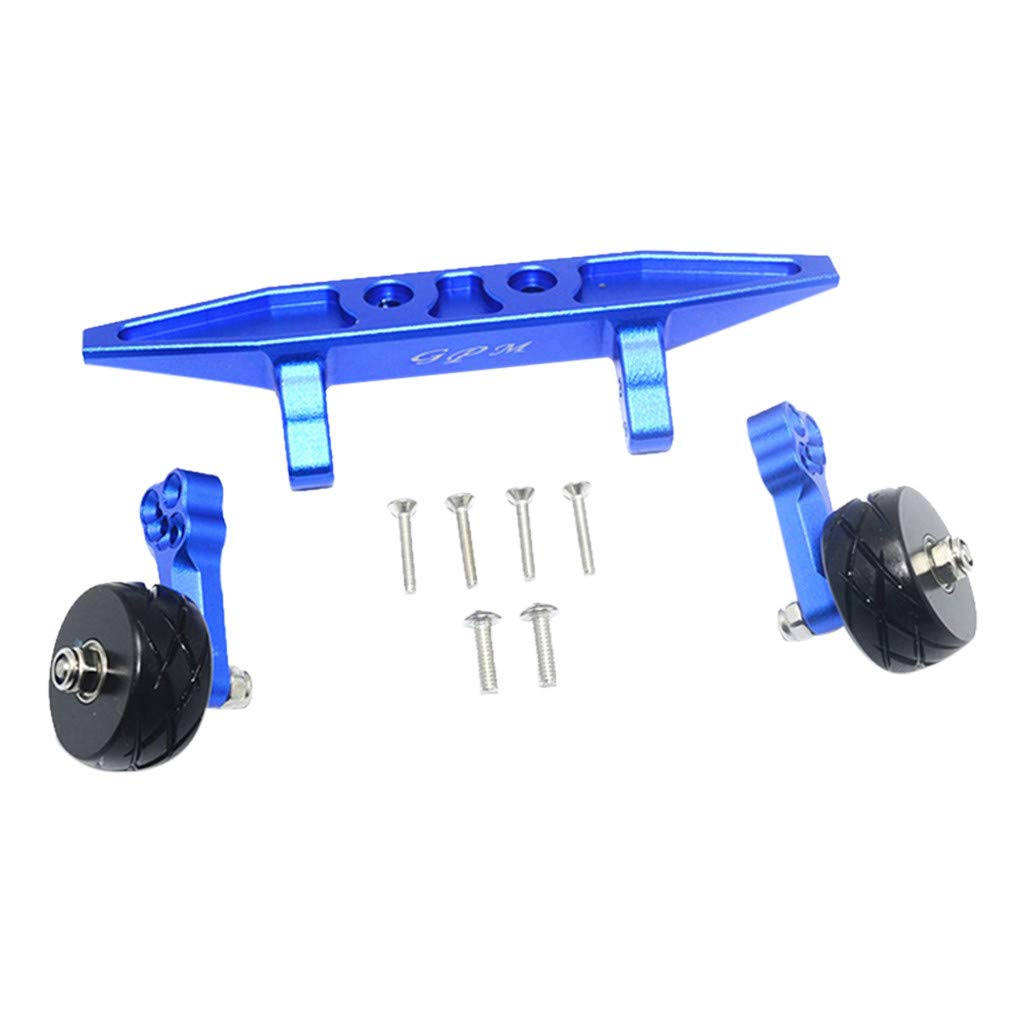 DDLmax Rear Double Wheel Wheelie Bar Kit for Traxxas RUSLTLER 4X4 VXL 67076-4 RC Car