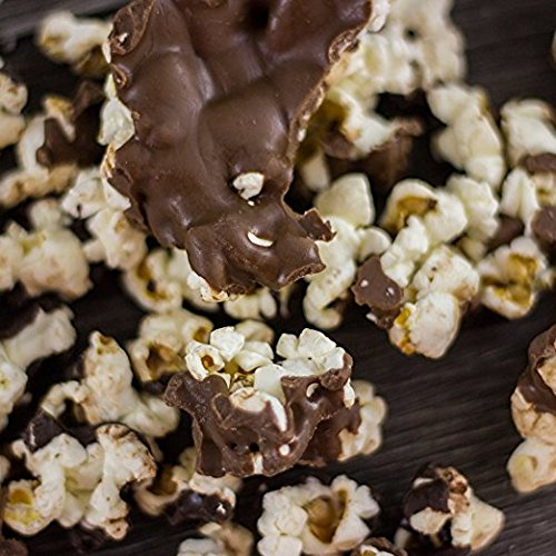 Mothers Day Chocolate Drizzled Popcorn, Milk & Dark Chocolate Popcorn Flavor Mix, Air-Popped, Lightly Dressed in Sea Salt & Olive Oil, Hand-Crafted in Small Batches, Made in USA, 6 Ounces