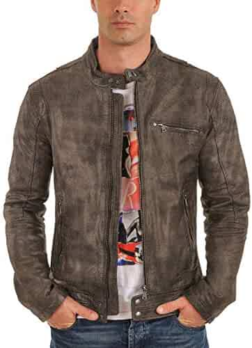 Laverapelle Mens Genuine Lambskin Leather Jacket 1501268 Black, Classic Jacket