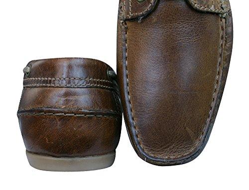 marrón Red cubierta barco Tape zapatos Stratton hombre cuero v0WRnqvP