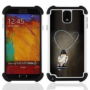 - girl love pearls grey deep depression/ H??brido 3in1 Deluxe Impreso duro Soft Alto Impacto caja de la armadura Defender - SHIMIN CAO - For Samsung Galaxy Note3 N9000 N9008V N9009