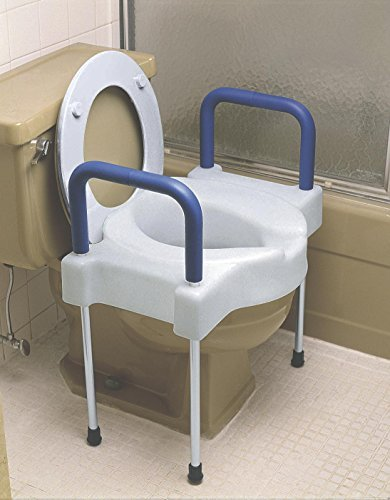 Medline Extra Wide Toilet Seat Riser With Legs