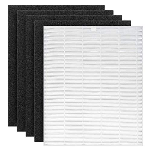 Cabiclean C545 True HEPA Replacement Filter S Compatible for Winix C545 Air Purifier, Replaces Winix S Filter 1712-0096-00, True HEPA Filter + Activated Carbon Filters