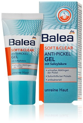 Balea Anti-Spot Gel with Salicylic Acid - Anti-Bacterial - Helps Rid Skin of Pimples in 2 to 3 Nights - Vegan / Not Tested on Animals - 15 ml dm-drogerie markt
