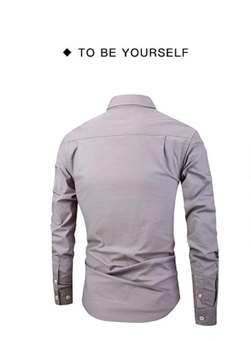 RDHOPE-Men Long-Sleeve Dress Business Plus Size Hipster Dress Shirts