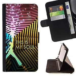 Momo Phone Case / Flip Funda de Cuero Case Cover - This Is Soul;;;;;;;; - Motorola Moto E ( 1st Generation )