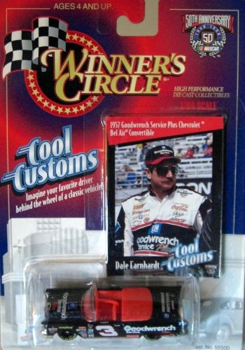Winners Circle 1/64 scale diecast with collectible card 50th Anniversary Dale Earnhardt #3 Cool Customs 1957 Goodwrench Service Plus Chevrolet Bel Air Convertible