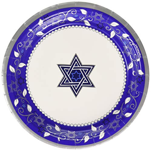 Passover Paper Plates (Amscan 541764 Tableware Collection, Joyous Holiday Round Plates Party Supplies, 7