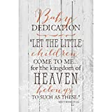 Baby Dedication…New Horizons Wood Plaque with Easel