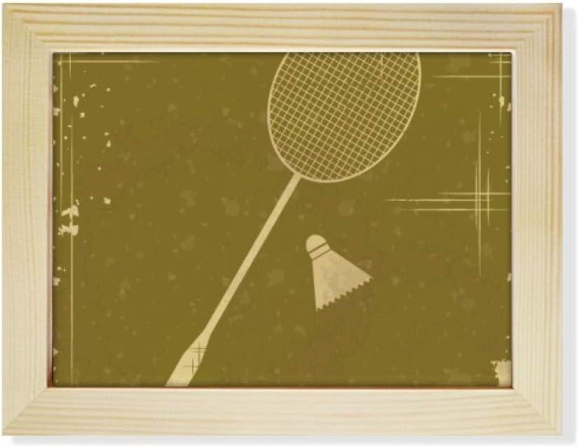 DIYthinker Sport Badminton Illustration Pattern Desktop Photo Frame Picture Art Decoration Painting 6x8 inch