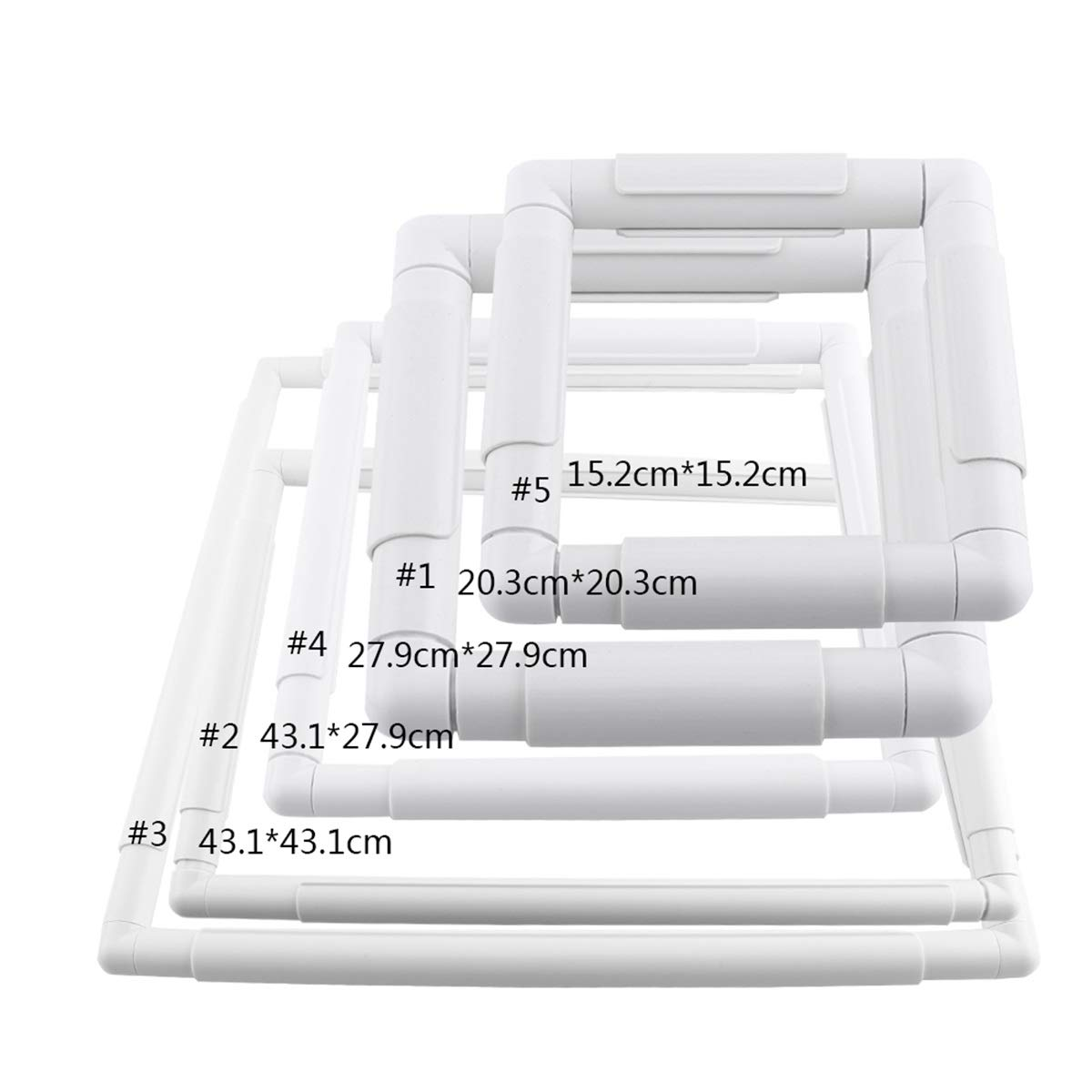 Size : 20.3 * 20.3cm Square Shape Embroidery Frame Set Plastic Cross Stitch Handhold Frame Hoop Sewing Craft DIY Tool