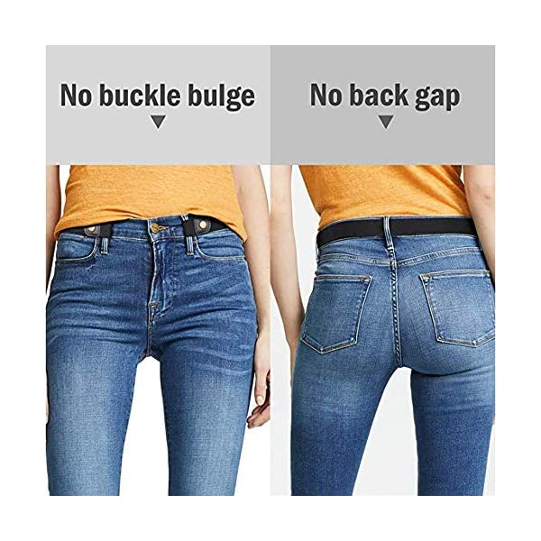 Cintura Donna Elastica Senza Fibbia,Pantaloni dei Jeans Cintura Invisibile Regolabile,Cintura Elastica Senza Fibbia per Uomo e Donna, Senza Fibbia Cintura Invisibile per Pantaloni Jeans