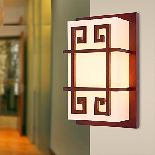 LED Wall Lights Wall Sconce Light Fixture Up Down Wall LightingThe Wooden Edge of Chinese Wall Lamps Faux Antique Wooden Wall lamp Creative Personality Through The Road Corridor Light Bedside lamp