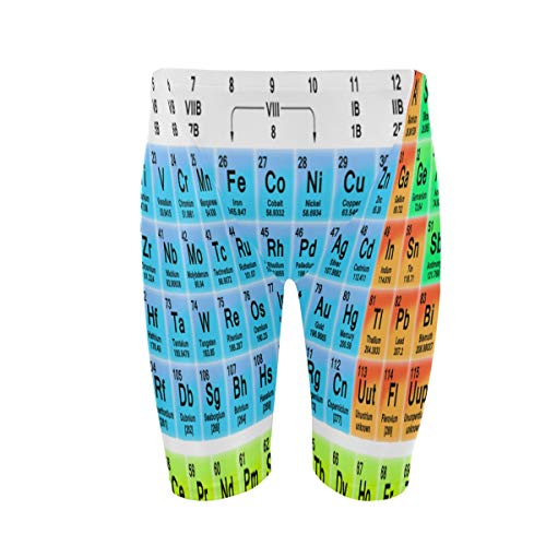 Mens Swim Trunks The Periodic Table Jammers Lightweight Quick Dry Swimsuit for Beach Swimming Sport