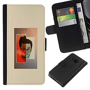 All Phone Most Case / Oferta Especial Cáscara Funda de cuero Monedero Cubierta de proteccion Caso / Wallet Case for HTC One M7 // Fight Club Illustration