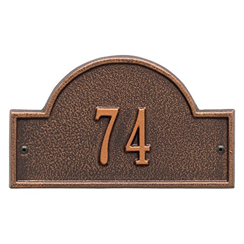 Petite Arch Marker (1 Line Arch Marker Petite Wall Address Plaque 8