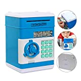 Electronics Kids Best Deals - Eflar Code Electronic Money Bank,Mini ATM Coin Saving Banks,Coin Saving Boxes,Toys Gifts Birthday Gifts ATM Bank for Kids - Blue