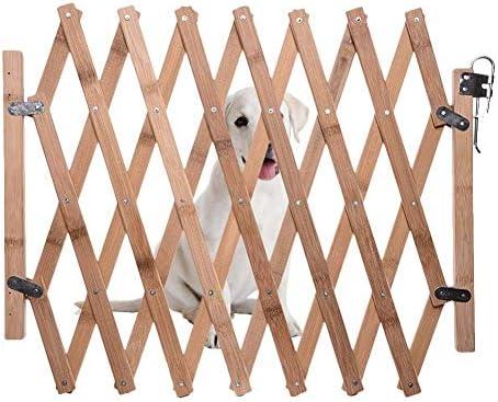 Jlxl Puerta Seguridad Perros, Cerca Retráctil Madera Interiores, Valla Seguridad Infantil Escalera, Puerta Corrediza Plegable Portátil Perros, Escaleras Puerta Cocina 27-110 Cm (Size : Height 82cm): Amazon.es: Productos para mascotas