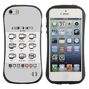 """Pulsar iFace Series Tpu silicona Carcasa Funda Case para Apple iPhone 5 / iPhone 5S , Gráfico Coffee Guías Guía Barista Copa"""""""