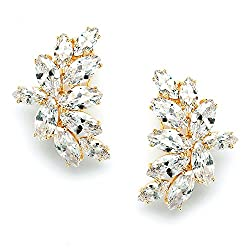 Marquis Cluster Cubic Zirconia Bridal Earrings
