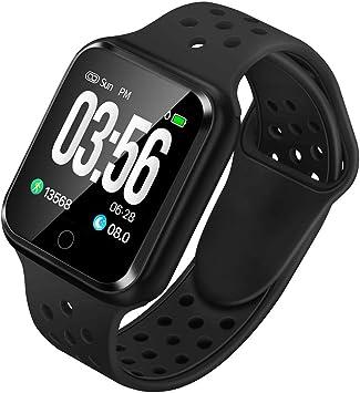 WAFA Fitness Tracker with Heart Rate Blood Pressure Monitor, Waterproof Fitness Watch, Bluetooth Smart Watch with Sleep Sports Data Monitor GPS ...