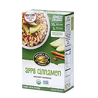 Nature's Path Organic Instant Oatmeal, Apple Cinnamon, 48 Packets (Pack of 6, 14 Oz Boxes)