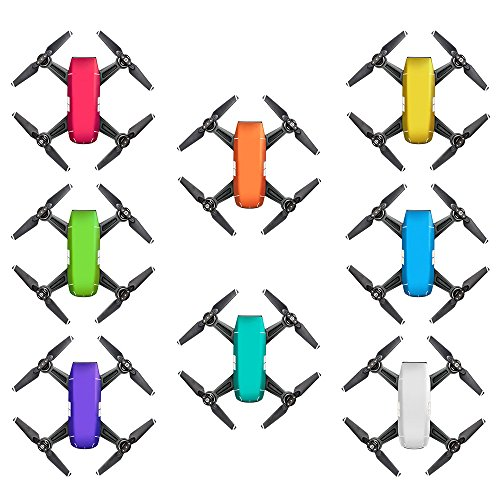 Cheap OK-STORE 8 PCS Exclusive Decoration Wrap Stickers Skin for DJI Spark Drone Body Shell, DJI Spark Intelligent Portable Mini Drone Decal Pasting Palm launch Mini Quadcopter Water-resistant PVC Dec Kit