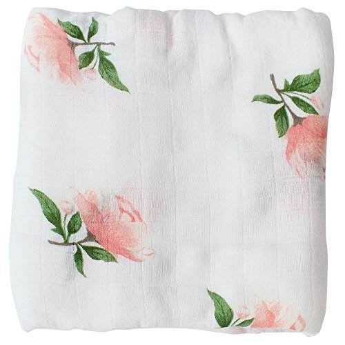 LifeTree Muslin Swaddle Blankets for Girls -