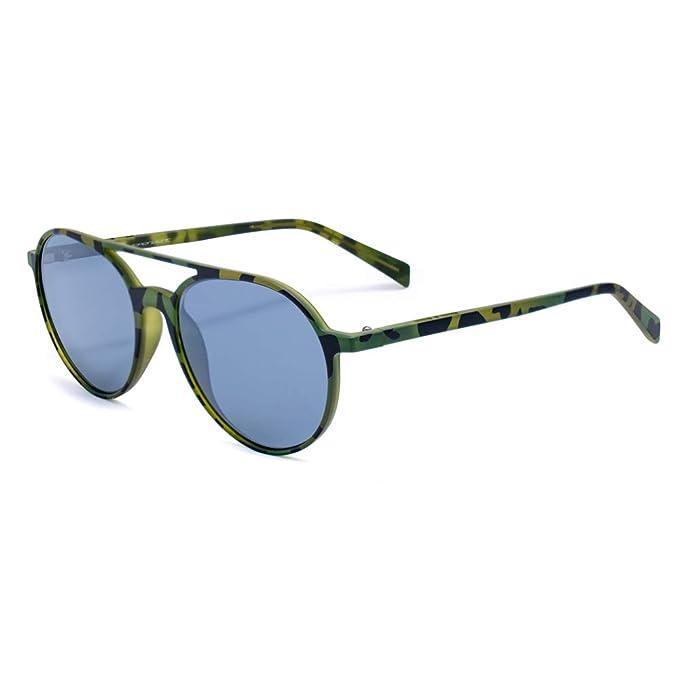 italia independent 0038-035-000 Gafas de sol, Verde, 53 ...